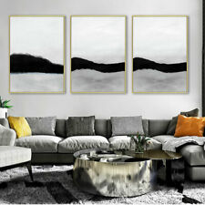 Black White Abstract Poster Print Modern Minimalist Wall Art Canvas Painting