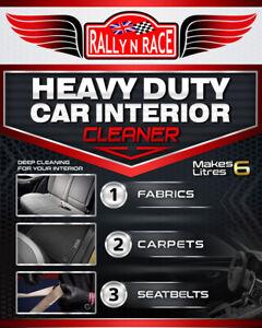Heavy Duty Car Interior Cleaner - Clean Fabrics Carpets Seatbelts - Makes 6L