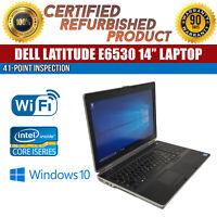 """C Grade Dell Latitude E6530 15.6"""" Intel i5 4GB RAM 250GB HDD Win 10 WiFi Laptop"""