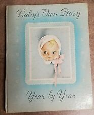 VINTAGE BABYS OWN STORY YEAR BY YEAR 8 x 10 WHITMAN PUBLISHING CO.