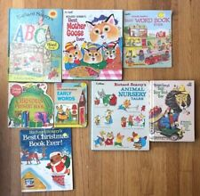 Lot 8 RICHARD SCARRY Scarry's Books ABC Word Book Nursery Mother Goose Picture