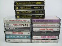 Lot of 16:: Easy Listening Cassettes Perry Como Dean Martin Johnny Mathis & more