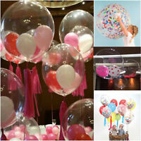 "Clear 36"" Large Giant wholesale Latex Big Oval  Balloon Wedding Party Decoration"