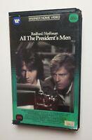 All The Presidents Men VHS Warner Clam Dustin Hoffman Robert Redford HTF