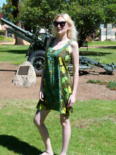 Womens Hippy Boho green dress
