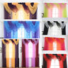 Tassels Voile Curtain Swags All Colours Pelmet Valance Net Curtains Voile Swag W