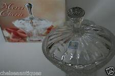 NUOVO taglio Crystal candy bowl/BON-BON BARATTOLO/bonbonnière/DOLCE Jar 24% PBO in scatola evita