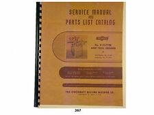 Cincinnati No 2 Cutter & Tool Grinder Model Ll Service Manual & Parts List *367