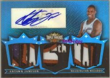 2008-09 TRIPLE THREADS 4 COLOR PATCH AUTO: ANTAWN JAMISON #1/1 OF AUTOGRAPH