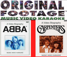 Abba & Carpenters Bideography & Music Original Footage Karaoke 2 Dvd Set 40 Hits