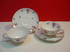 Meito China ROSE CHINTZ Two Cup and Saucer Sets