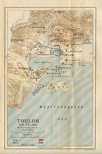 Carte/plan de bataille ~ toulon sept. - déc 1794 français et alliés troop positions forts etc