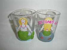 Shot Glass Mermaid Bottoms Up 3 Dimensional Textured Small Cup Cape Shore New