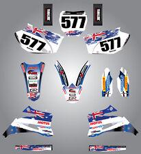 Full  Custom Graphic  Kit -AUSSIE PRIDE - Yamaha YZ 250 F  -  2008 - 2009