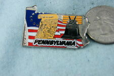 WILLABEE & WARD PIN PENNSYLVANIA STATE COMES WITH STATISTICS CARD