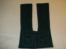 "INDIE JEANS ""Bootcut Flare Flappockets 30 Blue Dark Stone Stretch Cute!"