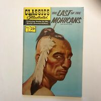"""Classic Illustrated comics """"The Last of the Mohicans by James Fenimore Cooper."""