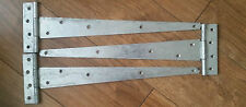 "3 x Single 450mm 18""  Fully GALVANISED T Hinges"