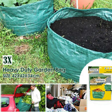 3x Large Garden Waste Bag Leaf Rubbish Plant Grass Sack Reusable Carry Pack