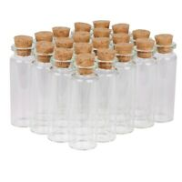 100 Packs Small Glass Bottles with Cork Stopper Tiny Vials Storage Crafts 15ml