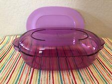 Tupperware  Acrylic Microwave Oval Rice Server Light Purple 6 Cups 3 Pcs New