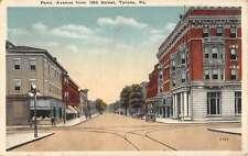 Tyrone Pennsylvania Penn Avenue Street Scene Antique Postcard K63753