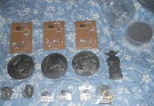 HUGE star wars pewter medallion coin keychain yoda statue LOT SUPER RARE