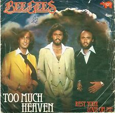 45 giri BEE GEES – Too Much Heaven / Rest Your Love on Me (1978)