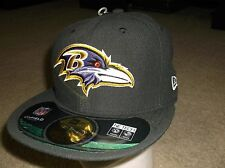 Baltimore Ravens New Era 59 Fifty Fitted hat - size 8  nwt Free Shipping