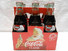 1993 Christmas Holiday Coke Bottles ~ 6 Pack w/ Mint Carrier ~ Collector Quality