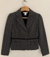 WHITE HOUSE BLACK MARKET Women Blazer Jacket 6 Notched Collar Peplum 1-Button
