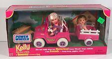 Barbie - 1997 Mattel - Power Wheels Kelly & Tommy Motorized Jeep - NRFB