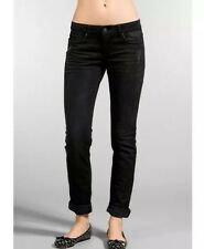 Size 25 Joes Black Washed Rolled Chelsea Skinny Boho Hippy Nasty Gal Hippie Sexy