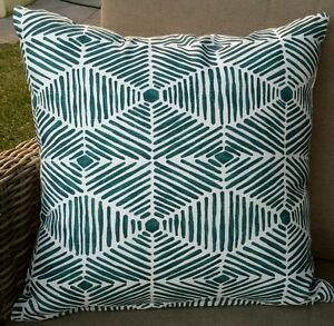 Turquoise and Blue Weave Cushion Cover - 50cm x 50cm