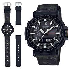 Casio Men's Protrek Triple Sensor Solar Silicon Watch PRG650YBE-3 + Extra Band
