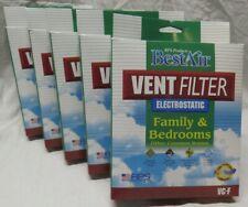 (5) BestAir ELECTROSTATIC Family & Bedroom Vent Filter VC-F New Genuine dust pet