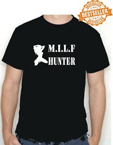 M.I.L.F HUNTER (1) T-Shirt / SEX / AMERICAN PIE  BROTHEL / Stag Night / All Size
