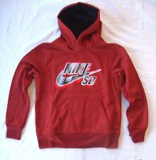 Nike Rouge pour Garçons Sb Therma-Fit Sweat à Capuche Neuf TAILLE S (8-10 Ans)