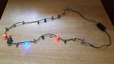 CHRISTMAS LIGHT NECKLACE FLASHES OR LIGHT'S UP (NEW)