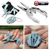 Mini Multi Function Folding Pocket Tool Plier Keychain Screwdriver Keyring 6in1