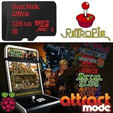 128GB SD-Card Retropie, Console & Arcade,KODI, Games 12,000+ for Raspberry Pi 3