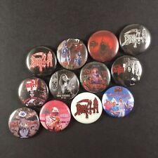 "DEATH Chuck Schuldiner 1"" PIN BUTTON lot Death Metal Symbolic Leprosy Human"