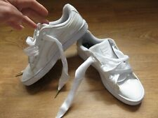 PUMA BASKET Heart Patent Women`s Trainers shoes WHITE UK 5 EUR 38 24CM