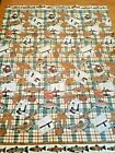 Vintage Printed BLANKET - FISHING - thin - polyester acrylic - approx. 70' x 89'