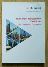 Investment Management Certificate | Unit 1| Investment Environment | Book |CHEAP