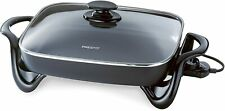 New ListingPresto 06852 16-Inch Electric Skillet with Glass Cover - New!