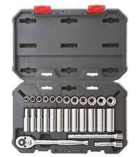 "CRESCENT CSWS9N 3/8"" Drive Socket Wrench Tool Set, Metric, 27 pcs"