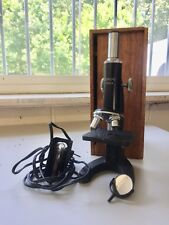 Vintage Edmund 300x Microscope with the original dove-tailed wooden box