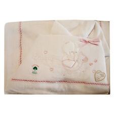 Compose' Lenzuola Passeggino Culla T&R BABY ROSA Flanella Art.270 Dis.8