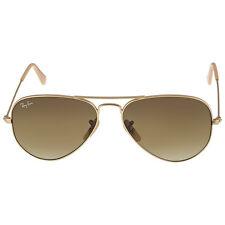 Ray Ban Original Aviator Matte Gold Brown Gradient Sunglasses RB3025-11285-55